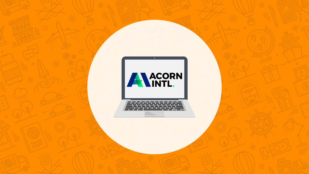 Acorn Logo on Laptop